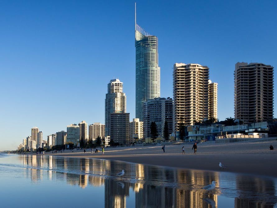 Q1 on the Gold Coast is currently Australia's tallest building. Photography by Ben Low