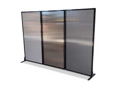 The Afford-A-Wall Folding Room Dividers are made of 100% waterproof polycarbonate material and are lightweight