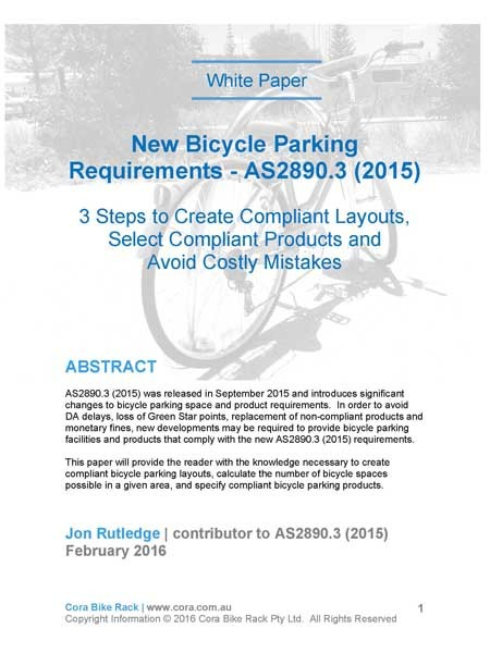 Cora Bike Rack's new white paper on compliant bicycle parking design