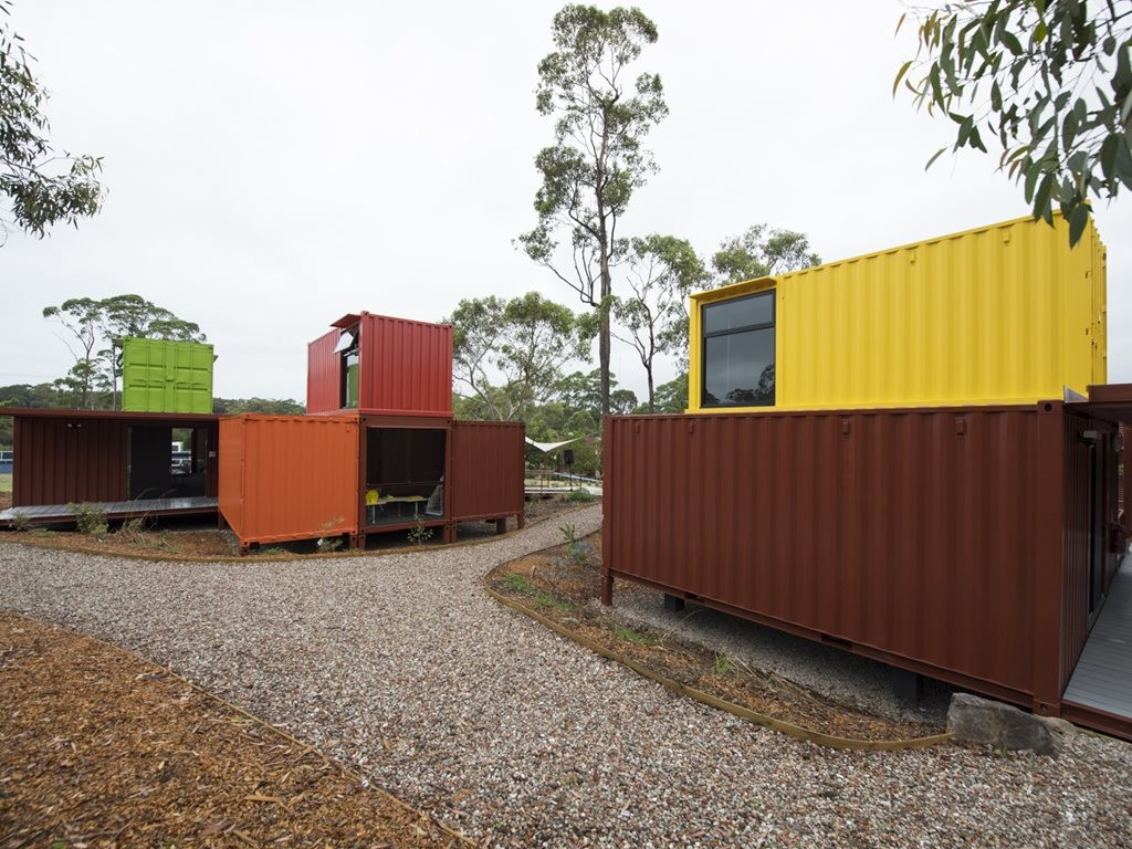 Andrew Nolan and Bernd Winter were looking for alternatives to the traditional demountables. Image: The German International School Sydney