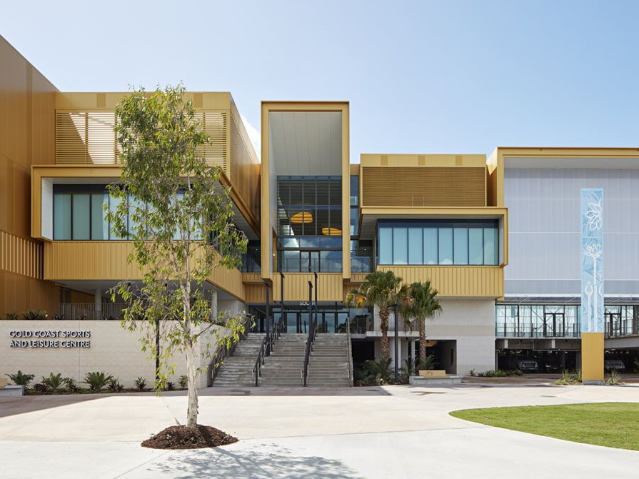 The BVN-designed Gold Coast Sports and Leisure Centre is one of 40 buildings and locations open for Gold Coast Open House. Image: Gold Coast Open House