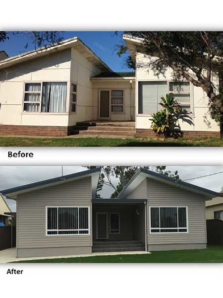 The Macquarie Fields house: Before and After