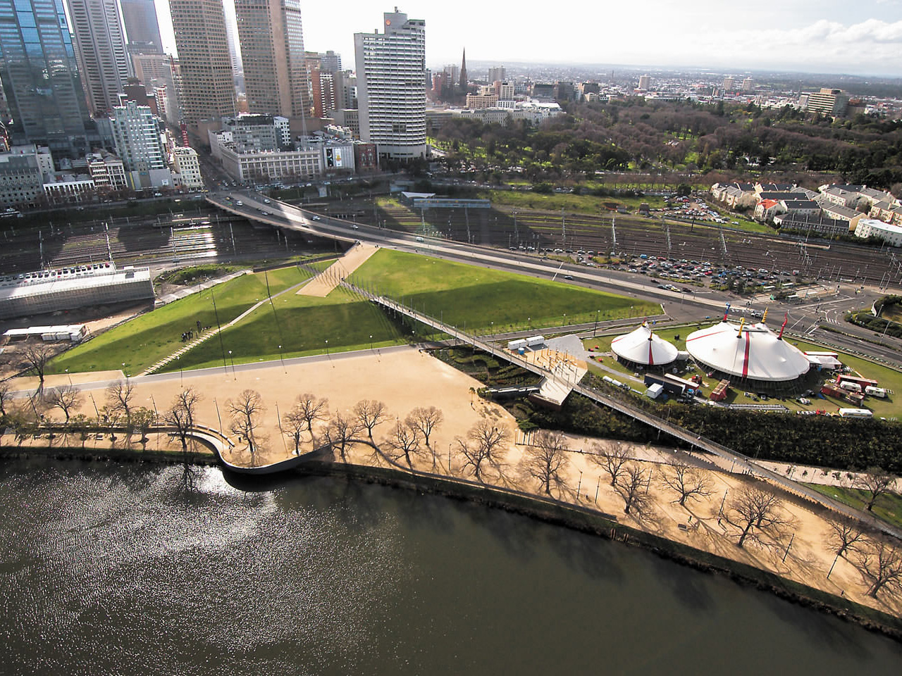 Birrarung Marr in Victoria, by TCL and Ecodynamics. Image: TCL
