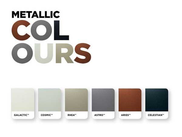Steel-Line's Colorbond metallic colour garage doors in a choice of six attractive colours