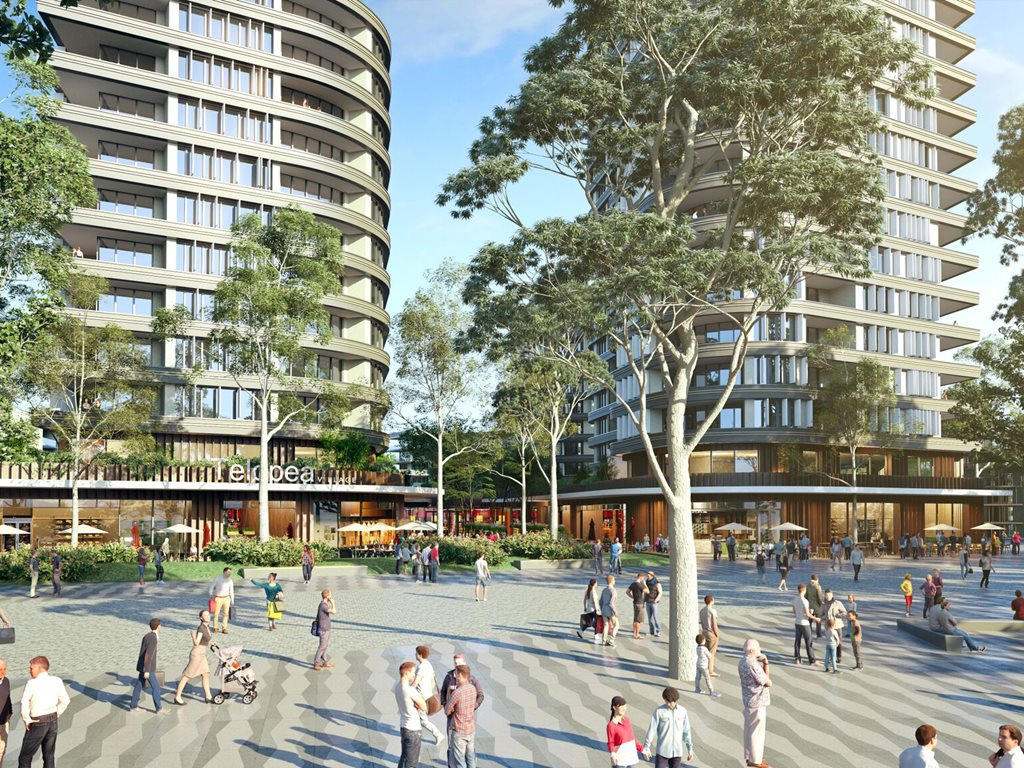 The Telopea proposal will have between 4500-4900 new social and private homes built at the site, a new community centre and a potential new town centre alongside the upcoming new light-rail stop. Image: Supplied