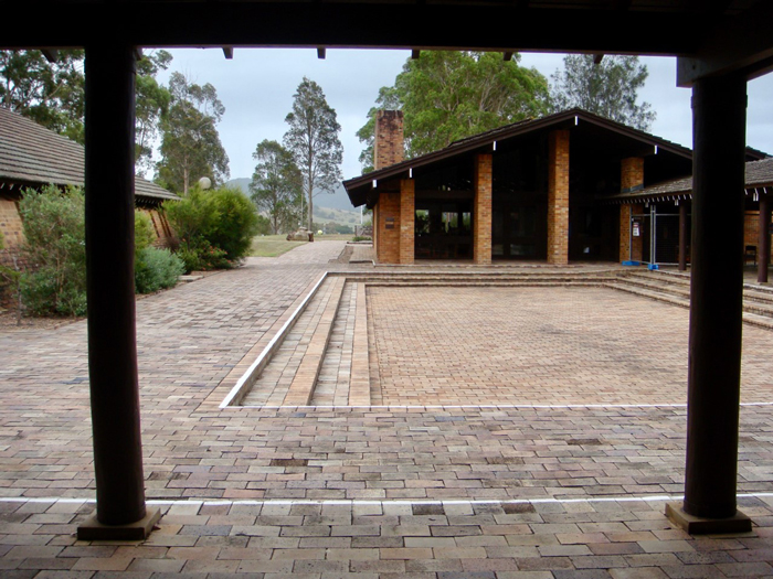 Tocal College exterior courtyard
