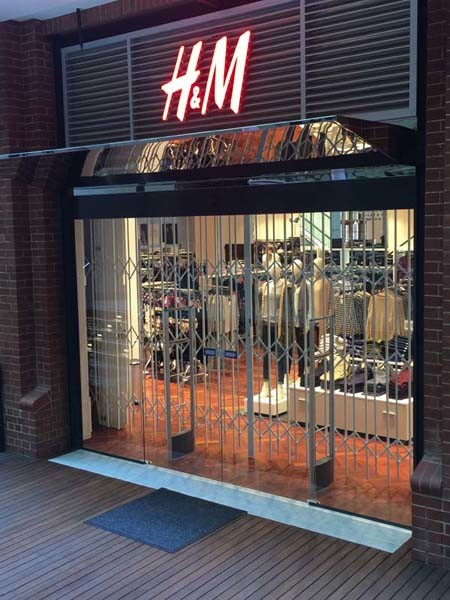 ATDC's high security scissor gates at H&M Perth