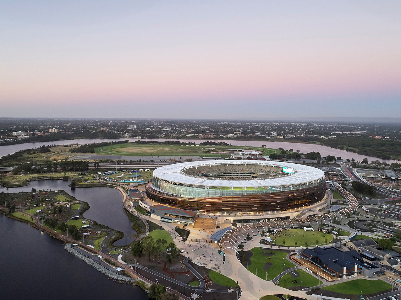 Optus Stadium and Stadium Park by HASSELL