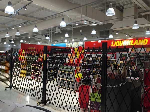 Liquorland store at Gungahlin Coles Supermarket secured with ATDC safety barriers