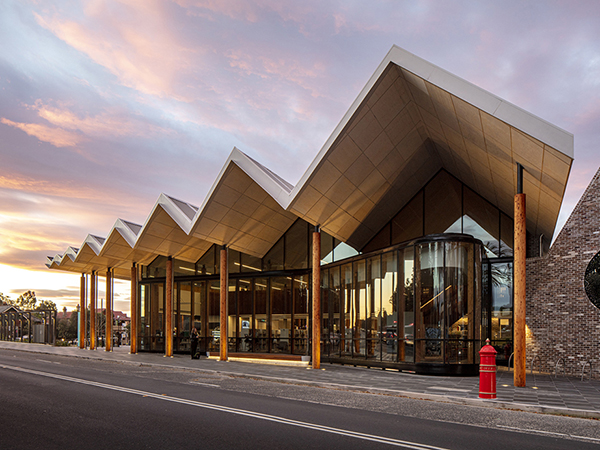 Marrickville Library picked up three awards - winner of the NSW Premier's Prize, the Milo Dunphy Award for Sustainable Architecture and the award for Public Architecture.