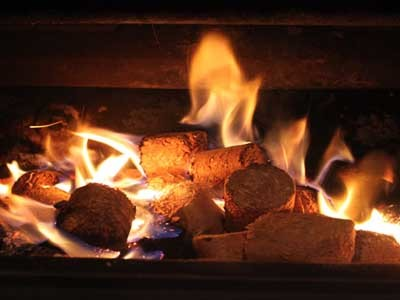 All sawdust and off cuts are compressed into wood briquettes to fuel a hydronic heating system