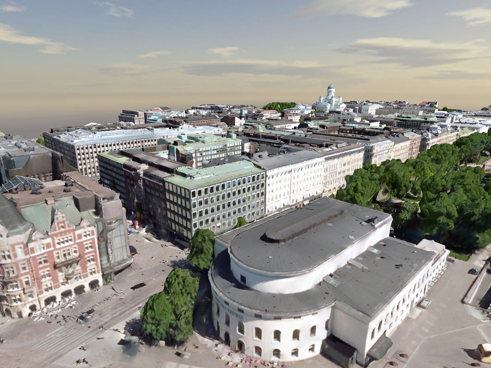 Helsinki used Bentley applications to create a reality mesh and a CityGML intelligent model of the city. Image: Supplied