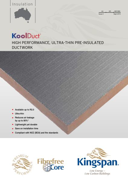 KoolDuct Product Range brochure