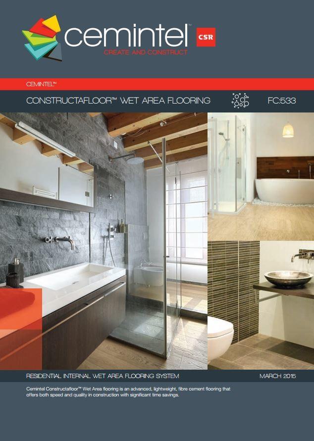 Cemintel Constructafloor Wet Areas & Cemintel Constructafloor™ for Lightweight Fibre Cement Flooring ...
