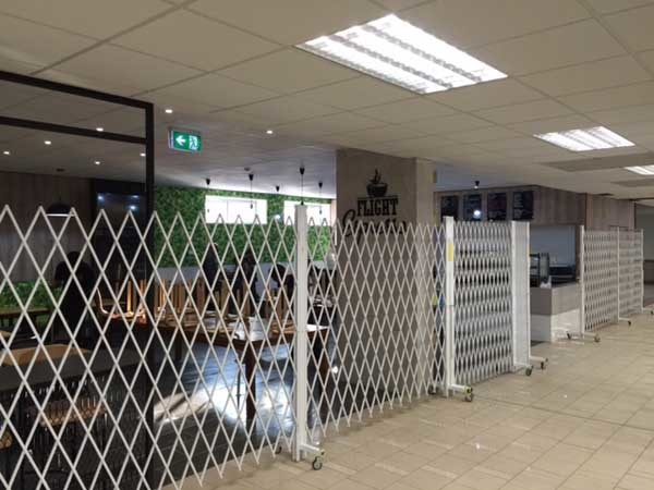 One of 4 ATDC expandable security door installations at Port Moresby International Airport, Papua New Guinea