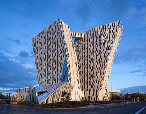 northern europe gets its own leaning tower architecture and design. Black Bedroom Furniture Sets. Home Design Ideas