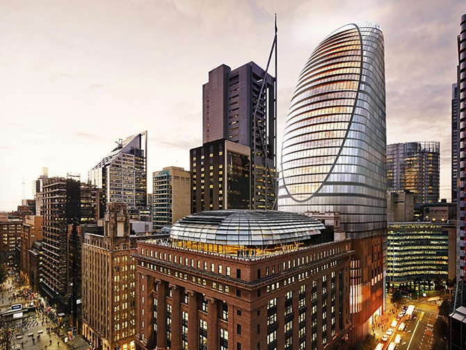 Image: North Tower of the new station precinct at Martin Place. Image: Planning NSW