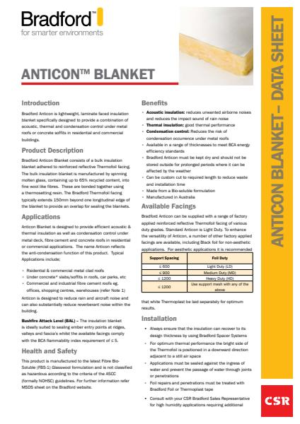 Anticon Blanket Datasheet