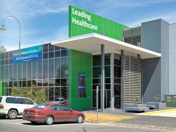 The Medical Centre in Bendigo featuring Weathertex