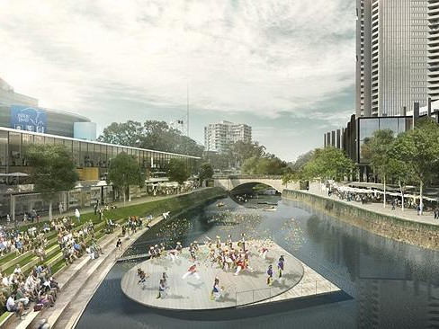 Parramatta was at the forefront of Sydney's bid for World Design Capital 2020. Image: McGregor Coxall