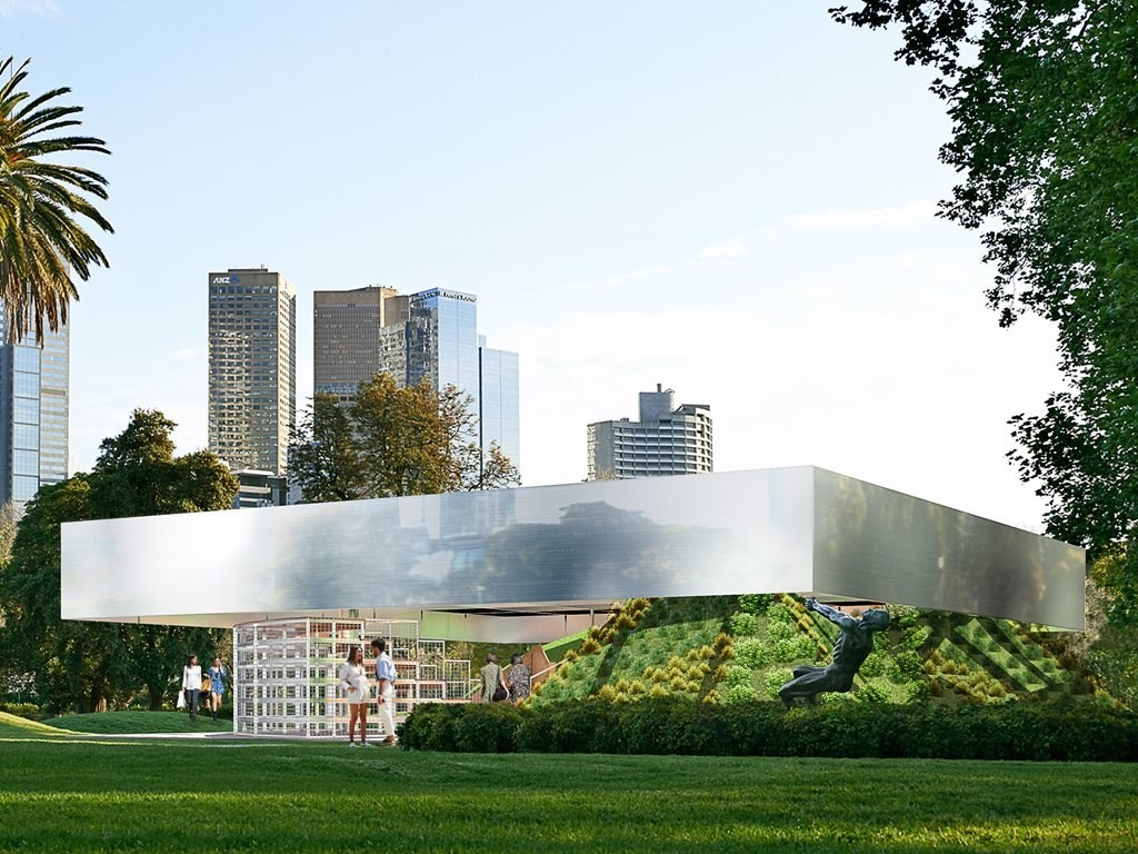 The fourth MPavilion designed by architects Rem Koolhaas and David Gianotten of Netherlands-based practice OMA