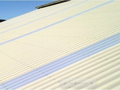 Palruf Durashield installed as roof cladding at large