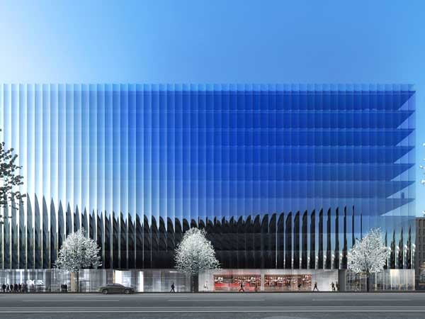 New Mullion Free Concaved Glass Facade Planned For