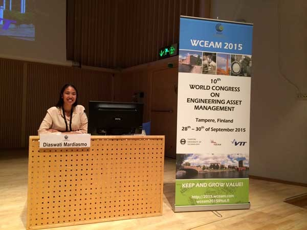 PRDnationwide's Dr Diaswati Mardiasmo presenting at the 10th World Congress on Engineering Asset Management
