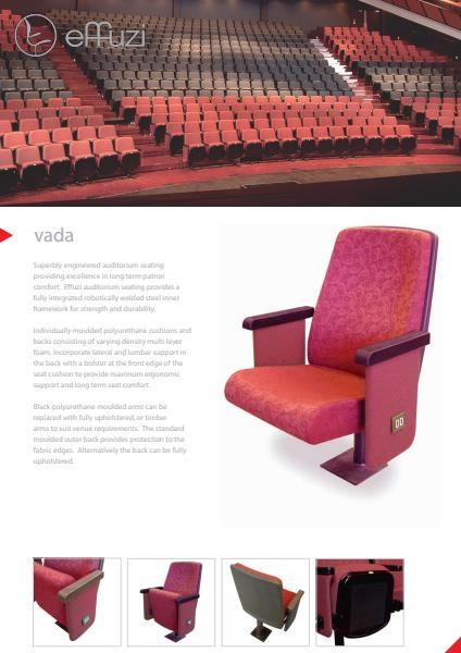 Effuzi Vada Performance Art Seating Product Information