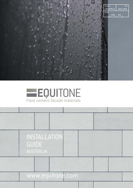 CSP Architectural: Equitone installation guide