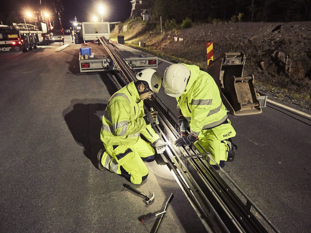 This month Sweden built the first road that charges electric vehicles as they drive. Image: eroadarlanda