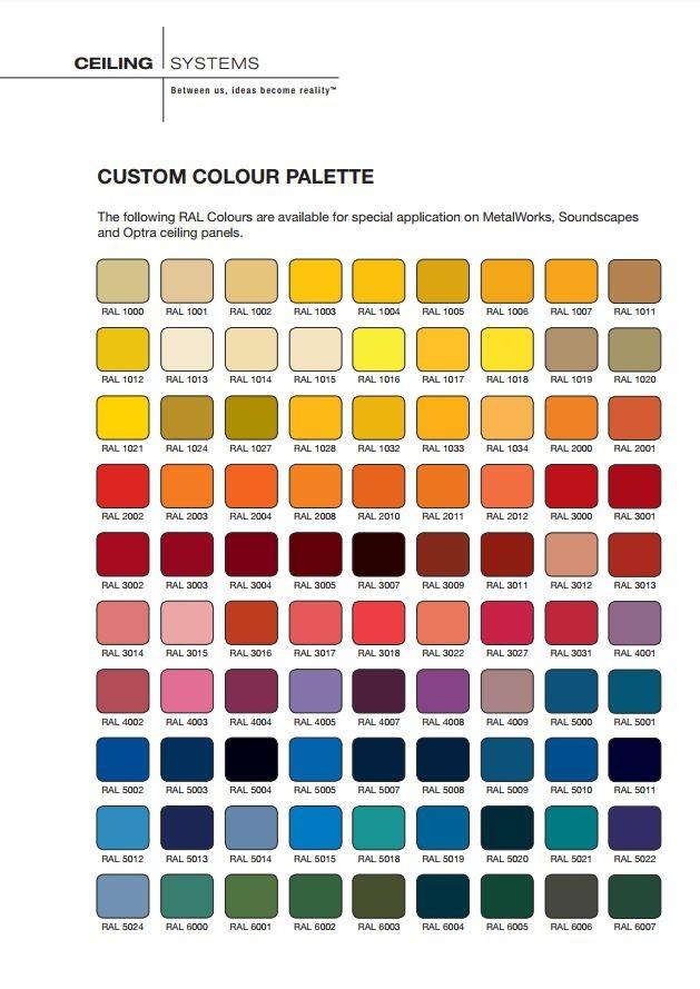 Ral Colour Chart X