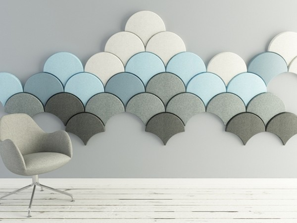 The ginkgo wall by Stone Designs presented by Blå station. Image: designboom.com
