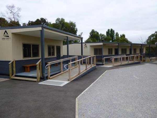 Within one week, Ausco Modular had delivered 26 educational floors