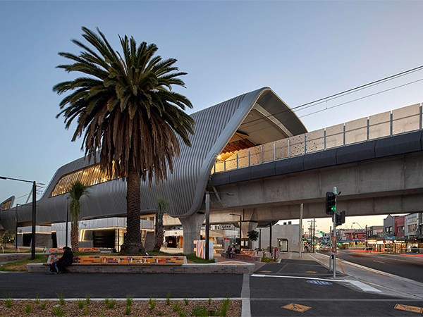 Cox Architecture's design of Melbourne's new elevated rail is one of Melbourne's most significant urban intervention projects in recent years. Image: Supplied