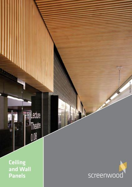 Screenwood Ceiling Wall Panels brochure