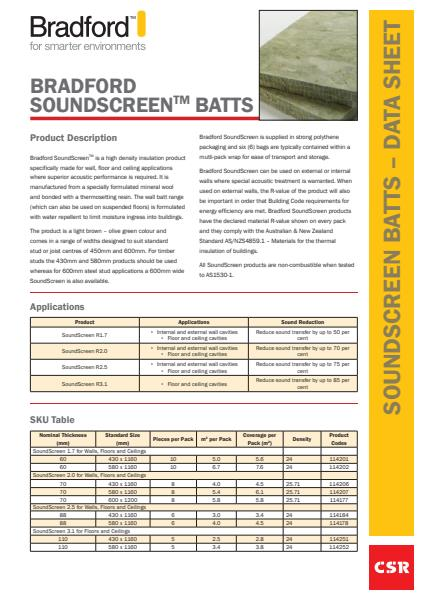 SoundScreen Datasheet