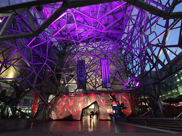 Federation Square in lights / Image: Ula Group