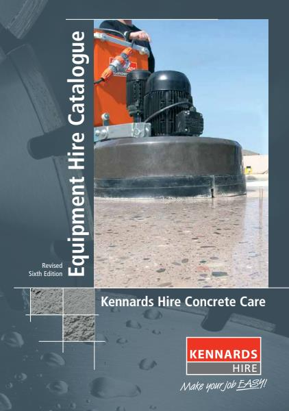 Kennards Hire Concrete Care Brochure