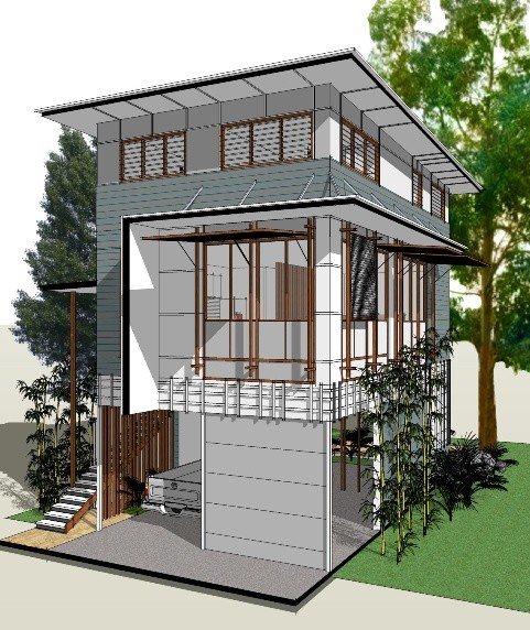 Flood home design competition winner architecture and design for Elevated modern house design