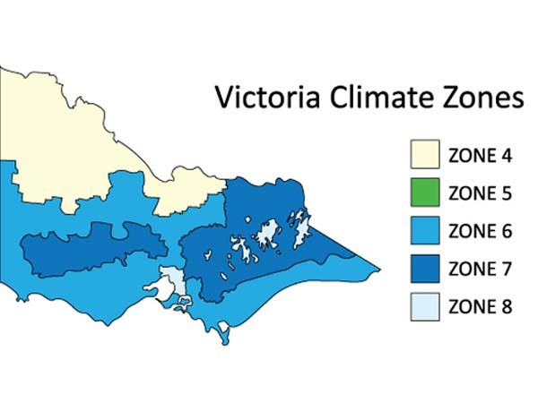 In Victoria, zones fall between Zone 4 and Zone 8