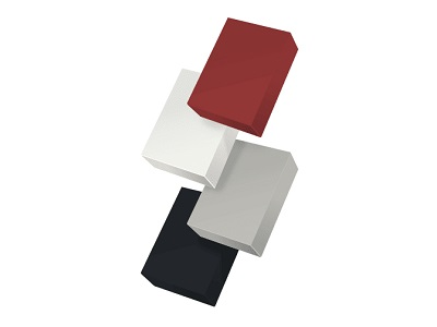 Corian® Solid Surface colours: Hot, Glacier White, Pearl Grey, Deep Nocturne