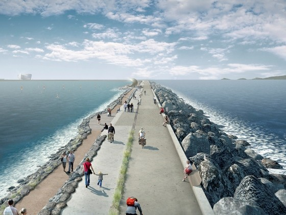 Tidal Lagoon, Swansea Bay, as envisaged by LDA Design. http://www.lda-design.co.uk