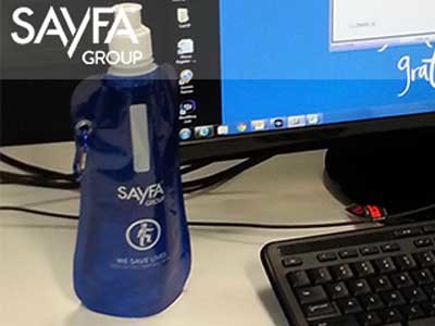 Sayfa's collapsible water bottle