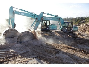 Sydney contractor relies on 8 Kobelco excavators to saw and cart 600