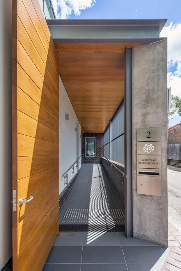 Sydney eye specialist centre kingsford by georgina wilson for Outer wall design architecture