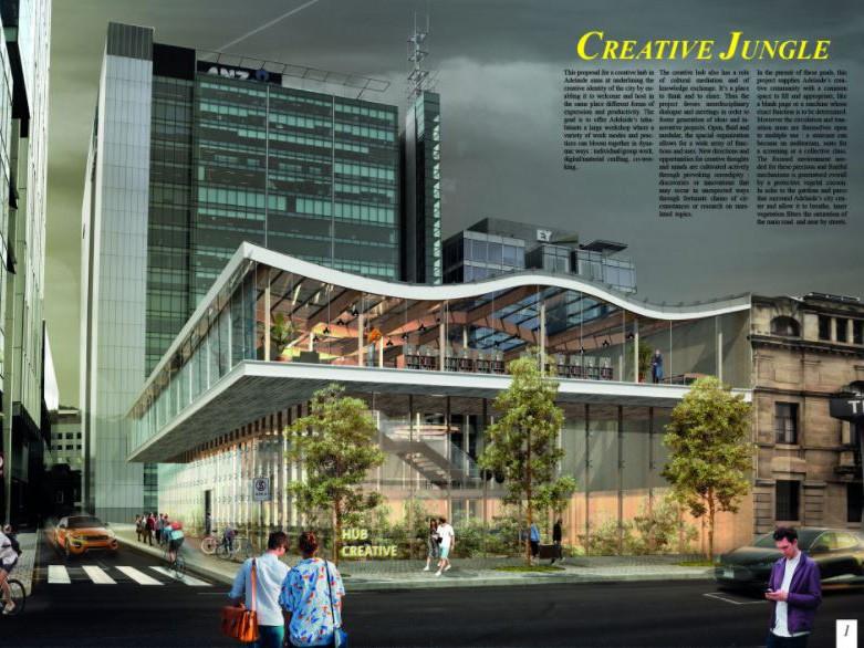 Design For Floating Internal Forest Wins Adelaide Creative
