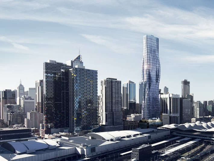 Construction has begun the 79-storey Premier Tower in Melbourne