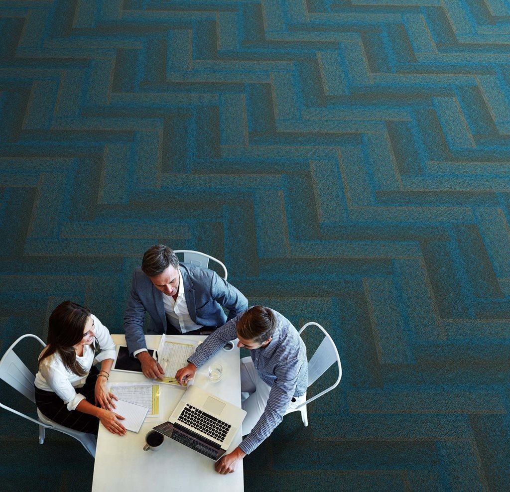 EcoSoft carpet tiles are ideal for absorbing ambient and impact noise and lowering reverberation time in a room