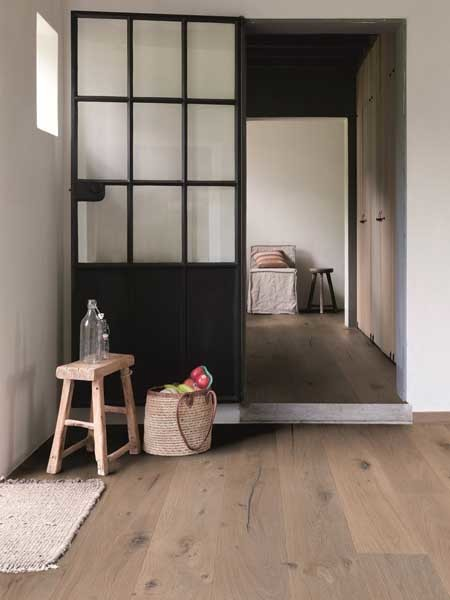 Engineered wood flooring by Premium Floors features three layers of durable timber including a core layer of rubberwood